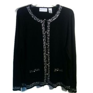 Alfred Donner Leopard print Cardigan